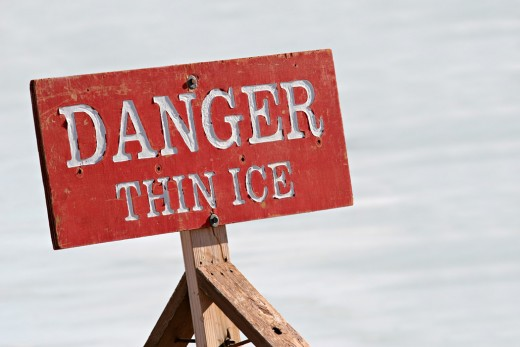 Is there thin ice ahead on your job front?