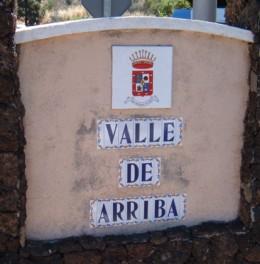 Valle de Arriba sign