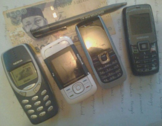 Cell phones: A common sight in Nigeria today.