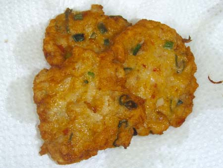 Salted cod fish cakes