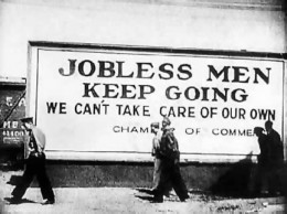 """During the """"dirty 30s"""", it was jobs that were in short supply. The current crisis caused a lot of job losses."""