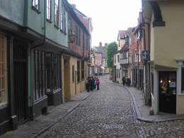 Looking down Elm Hill