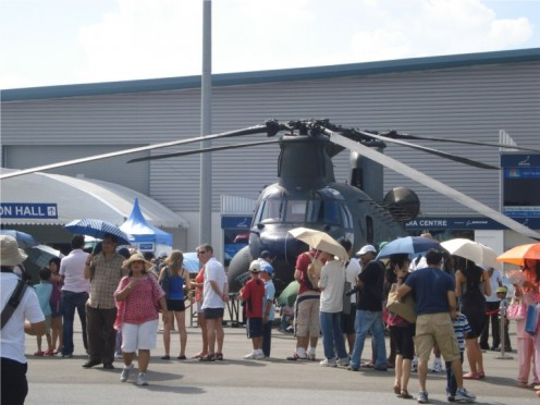 Singapore Air Show - Chinook CH-47 SG