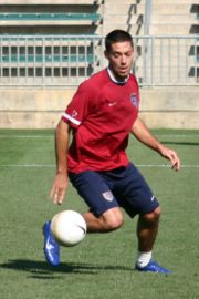 Clint Dempsey in training for the USA team (credit: Jarrett Campbell)