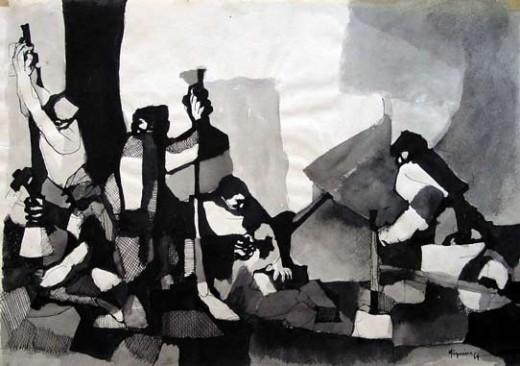 Calceteiros de Lisboa (Lisbon Pavers) 1964 Manuel Figueira