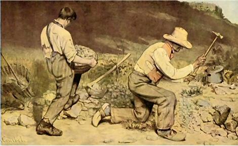 Les casseurs de pierre  Courbet