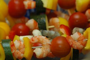 Prawns can be easily cooked on skewers. (Photo courtesy of www.everystockphoto.com)