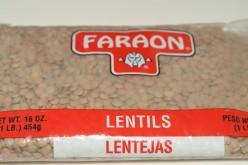 Faraon dried Lentles in a bag - never pre-soak lentles!