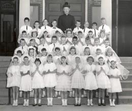 My first grade class at Saint John's School