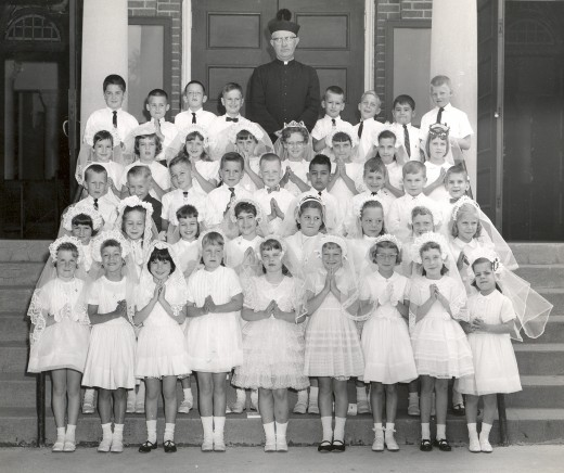 My first grade class at Saint John's School