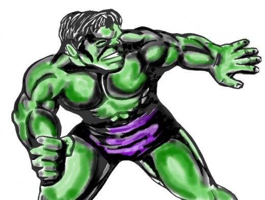 ...I wanted to draw the Hulk