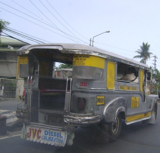 "Another ""jeepney"". View from back."