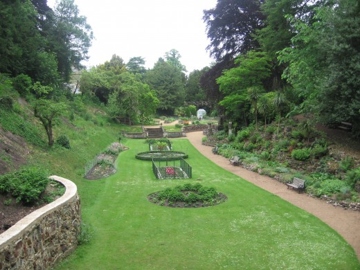Looking down from the summerhouse - can you imagine the Victorian parties?