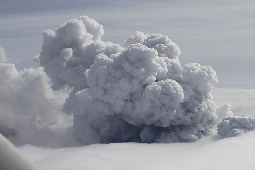 Ash coming out of the Eyjafjallajkull Volcano in the recent eruption that created havoc in European airspace.