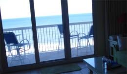 Deck facing the beach.