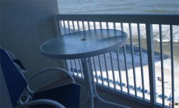 Balcony funiture, which included three chairs and a table.
