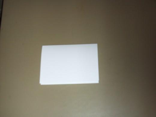 A blank card.
