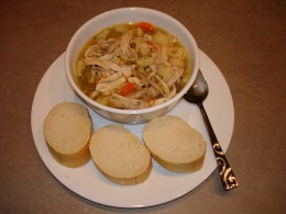chicken noodle soup  - most famous noodle soup
