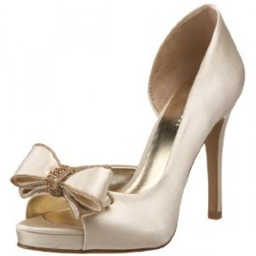 Bridal Shoes satin rhinestone and bow