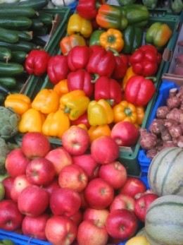 Fruits and vegetables contain petrochemicals toxins from insecticides.
