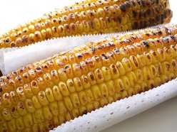 Smoky tasting grilled corn on the cob (image from yomi955 on Flickr)