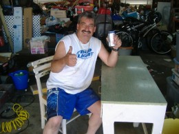 HERE I AM 4 YEARS AGO HAVING A COLD ONE AND THINKING I WAS AS HAPPY AS CAN BE.