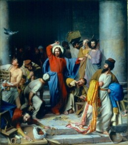 One of the protests described in the Bible, is the overturning of the money changer's tables in the temple by Jesus.