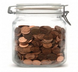 Pennies accumulate rapidly and many people either throw then away, roll them up for the bank, or use them in a peaceful form of protest.