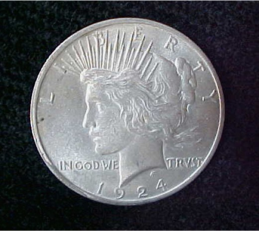 This is a 1924 U.S. Peace Dollar