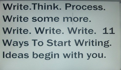 Writing begins with you