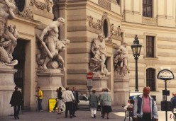 The gates of the Hofburg complex.
