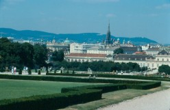 The Vienna skyline from the Belvedere Palace grounds.