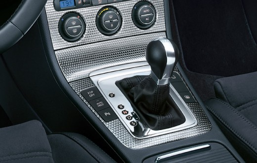 Leather gear lever knob with aluminium insert