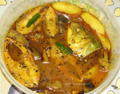 fish curry with seasonal vegetables