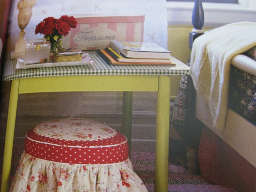 Nicely decorated side table.