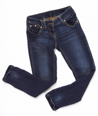 Vintage blue jeans.