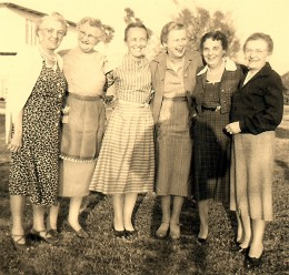 Group of vacationing friends in McAllen.  My grandmother is the 2nd from the right.