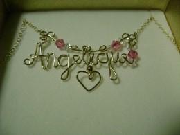 Angelique name pendant