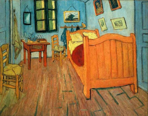 'Bedroom in Arles' is one of my favourite Van Gogh paintings. I like the variety of colours and the strength and brightness of them.