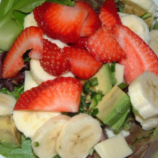 Gently adding avocados to fruit salads are a great idea