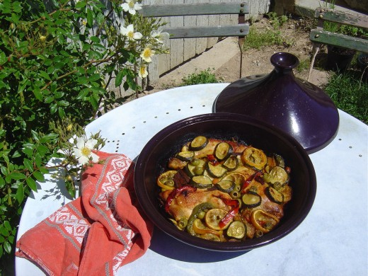 A Les Trois Chenes version of Chicken Tajine