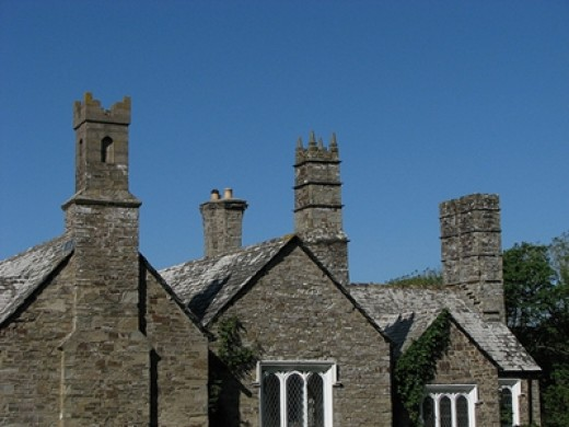 The chimneys were designed to remind Reverend Hawker of the towers of churches that had been significant in his life