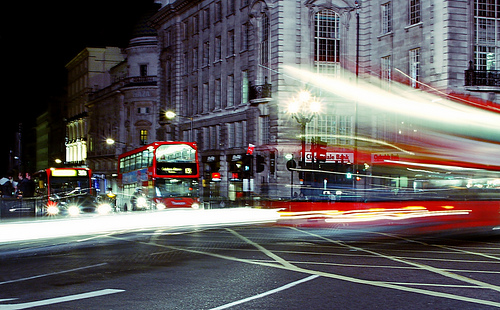 London Night Traffic