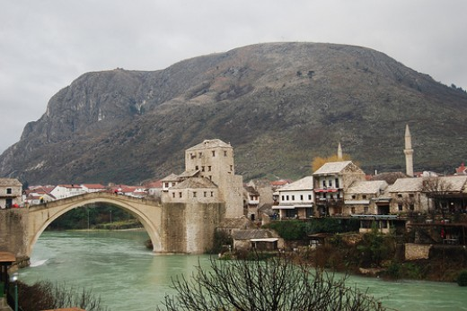 Old bridge in Mostar, Bosnia Herzegovina