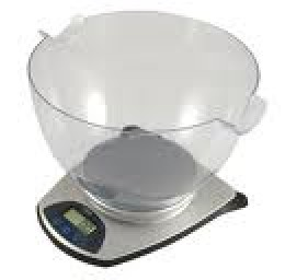 Kitchen scales with bowl for measuring ingredients