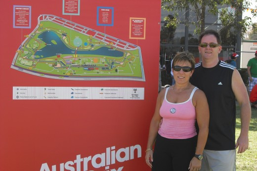 Leanne and I at the Australian Grand Prix! We just DID IT!