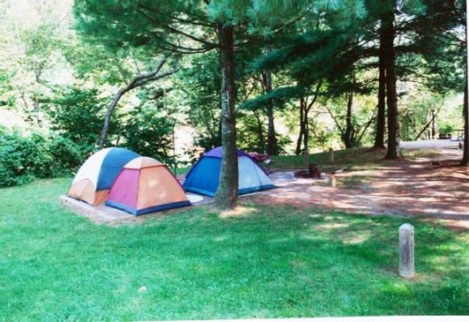 camping in nature trail