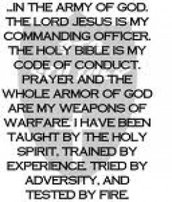 Ephesians Soldier's Good Fight of Faith - From My Prayer Closet