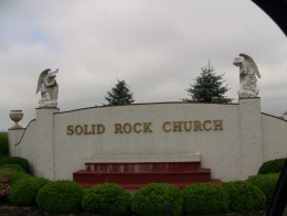 Solid Rock Church, Monroe, Ohio- Photo: Greg Reese 2010 Mom&Son