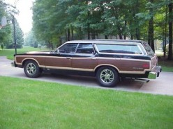 This Station Wagon is what our Family Car looked like growing up.
